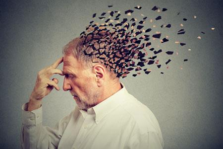 Dementia man losing head