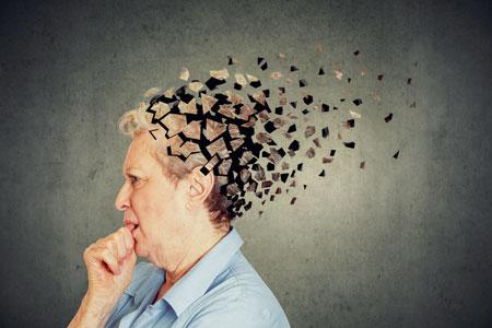 Dementia woman losing head